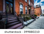 rowhouses in mount vernon ... | Shutterstock . vector #399880210