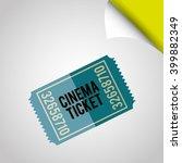 cinema icon  design  | Shutterstock .eps vector #399882349