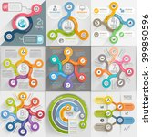infographics template set.... | Shutterstock .eps vector #399890596