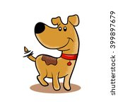 happy dog cartoon  | Shutterstock .eps vector #399897679