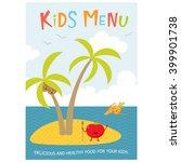 cute kids meal menu vector... | Shutterstock .eps vector #399901738