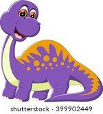 illustration of cute dinosaur... | Shutterstock .eps vector #399902449