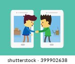Businessman And Customer Out O...