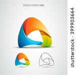 letter a logo icon design... | Shutterstock .eps vector #399903664