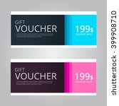 vector design for gift voucher... | Shutterstock .eps vector #399908710