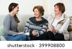 senior cheerful women... | Shutterstock . vector #399908800