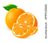 whole orange fruit with slices... | Shutterstock .eps vector #399910060