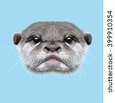 Illustrated Portrait Of Otter....
