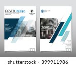 blue annual report brochure... | Shutterstock .eps vector #399911986
