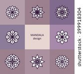 mandala. vector yoga icons and... | Shutterstock .eps vector #399918304