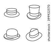 hats vector icons | Shutterstock .eps vector #399922570
