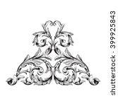 vintage baroque frame scroll... | Shutterstock .eps vector #399925843