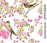 seamless pattern. birds... | Shutterstock . vector #399926806