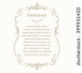 greeting card  invitation.... | Shutterstock .eps vector #399931420