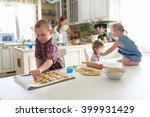 children with her mother... | Shutterstock . vector #399931429