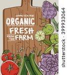 fresh organic farm vegetables... | Shutterstock .eps vector #399933064