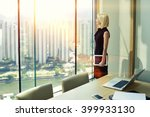 woman skilled employer with... | Shutterstock . vector #399933130