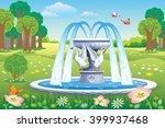 vector beautiful landscape with ... | Shutterstock .eps vector #399937468
