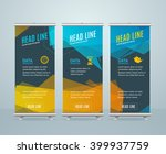 roll up banner with bubble... | Shutterstock .eps vector #399937759