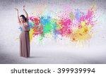 modern street dancer jumping... | Shutterstock . vector #399939994