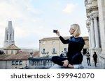 Woman Traveler Is Making Photo...