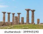 doric temple of athena  assos ... | Shutterstock . vector #399945190