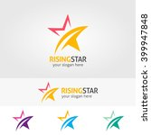 abstract star logo template ...