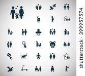 set of twenty seven family icon | Shutterstock .eps vector #399957574