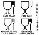 food grade icon set   food safe ... | Shutterstock .eps vector #399957910