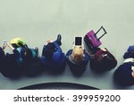 top view of women tourists are... | Shutterstock . vector #399959200