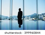 silhouette of man skilled... | Shutterstock . vector #399960844