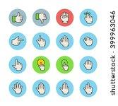 gesture icons   Shutterstock .eps vector #399963046