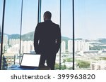 back view of man professional... | Shutterstock . vector #399963820