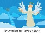 vector cartoon image of a old... | Shutterstock .eps vector #399971644