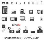 evolution of phones  computers  ...   Shutterstock .eps vector #399973684