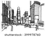 scene street illustration. hand ... | Shutterstock .eps vector #399978760