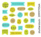 big set of food badges. gluten... | Shutterstock .eps vector #399979564