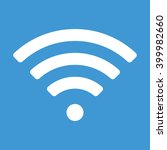 wifi icon on blue background. | Shutterstock .eps vector #399982660