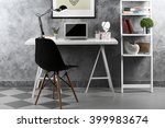 interior of modern workplace... | Shutterstock . vector #399983674
