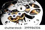 close up watch mechanism.... | Shutterstock . vector #399986506
