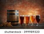 glasses with different sorts of ... | Shutterstock . vector #399989320