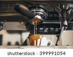 fresh espresso coffee pouring...   Shutterstock . vector #399991054