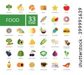 food icons set | Shutterstock .eps vector #399991639