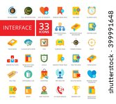 interface flat icons set | Shutterstock .eps vector #399991648