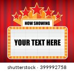 now showing sign with red... | Shutterstock .eps vector #399992758