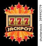 slot machine jackpot triple... | Shutterstock .eps vector #399992779