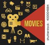movies retro video projector... | Shutterstock . vector #400004884