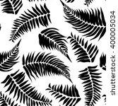 black  tropical black  leaves... | Shutterstock .eps vector #400005034