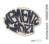 memento mori. latin saying in...   Shutterstock .eps vector #400007398