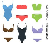 swim suits cloth fashion looks... | Shutterstock .eps vector #400009498